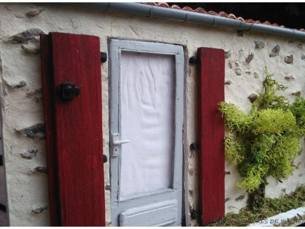 Jardin et Porte Miniature - Diorama La porte ancienne